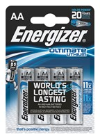 Baterie Energizer FR6 AA 1,5V Ultimate Lithium 4szt.