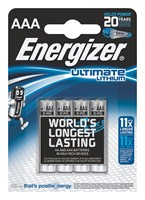 Baterie Energizer FR3 AAA 1,5V Ultimate Lithium 4szt.